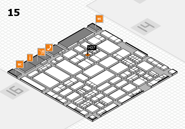 ProWein 2017 hall map (Hall 15): stand H37