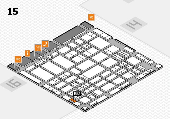 ProWein 2017 hall map (Hall 15): stand B82