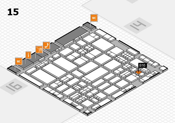 ProWein 2017 hall map (Hall 15): stand B16