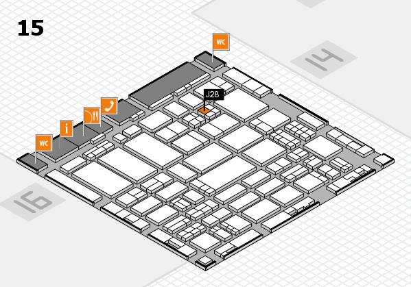 ProWein 2017 hall map (Hall 15): stand J28