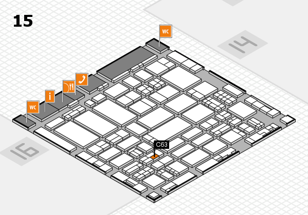 ProWein 2017 hall map (Hall 15): stand C63