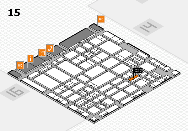 ProWein 2017 hall map (Hall 15): stand C22