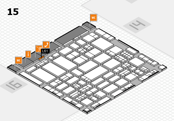 ProWein 2017 hall map (Hall 15): stand L61