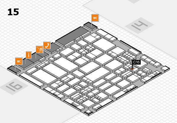 ProWein 2017 hall map (Hall 15): stand C16