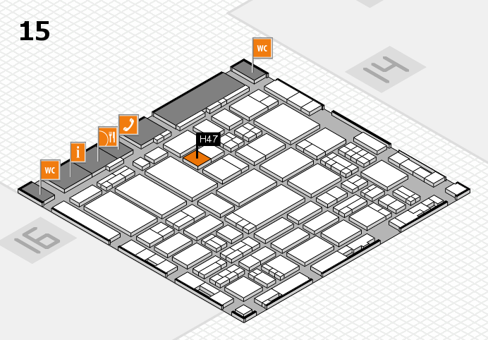 ProWein 2017 hall map (Hall 15): stand H47