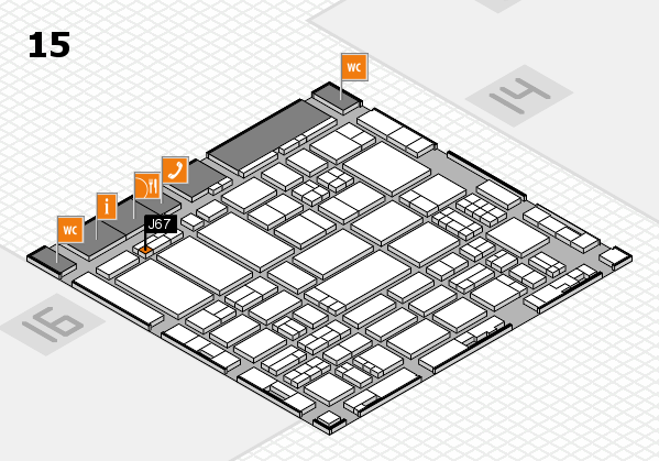 ProWein 2017 hall map (Hall 15): stand J67