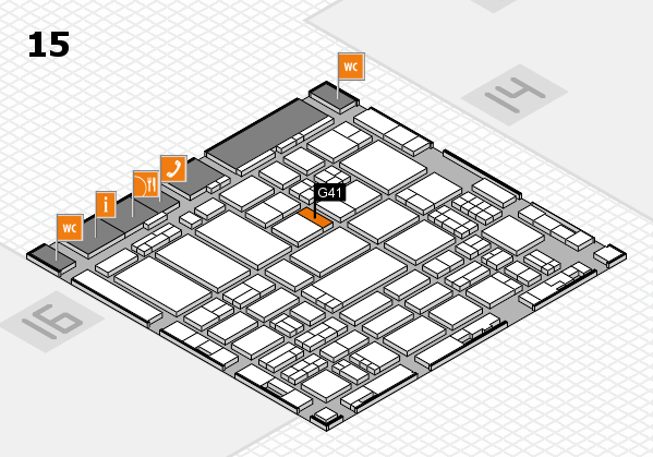 ProWein 2017 hall map (Hall 15): stand G41