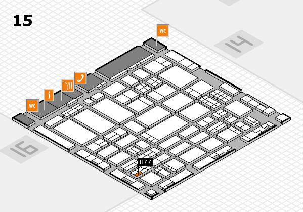 ProWein 2017 hall map (Hall 15): stand B77