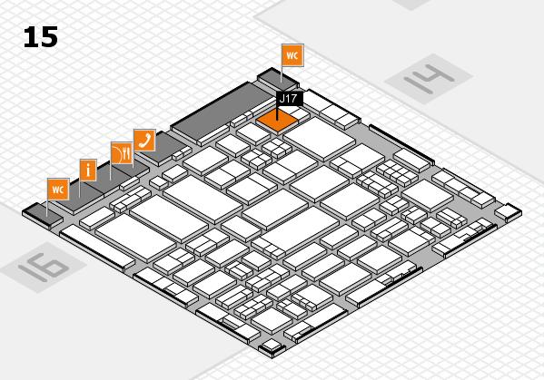 ProWein 2017 hall map (Hall 15): stand J17