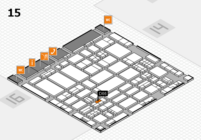 ProWein 2017 hall map (Hall 15): stand D66