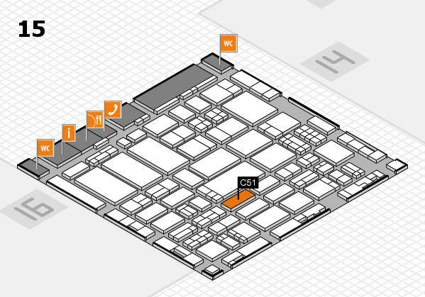 ProWein 2017 hall map (Hall 15): stand C51