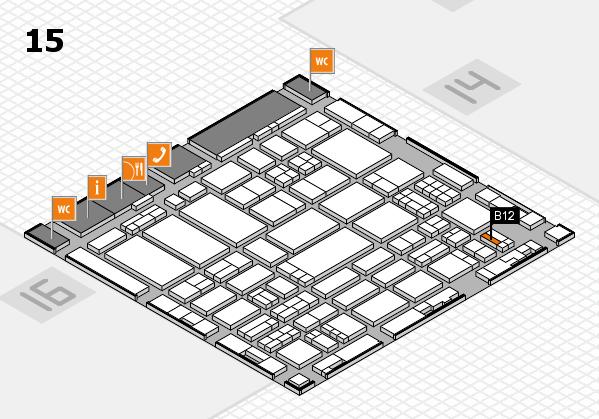 ProWein 2017 hall map (Hall 15): stand B12