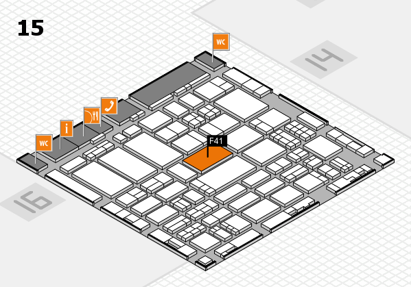 ProWein 2017 hall map (Hall 15): stand F41