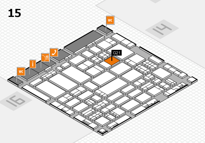 ProWein 2017 hall map (Hall 15): stand G21