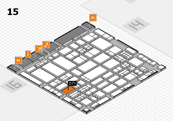 ProWein 2017 hall map (Hall 15): stand D71