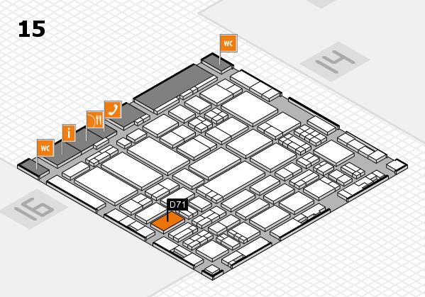ProWein 2017 Hallenplan (Halle 15): Stand D71