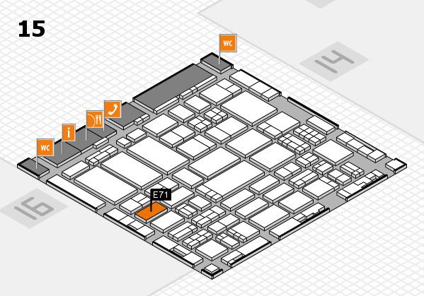 ProWein 2017 hall map (Hall 15): stand E71