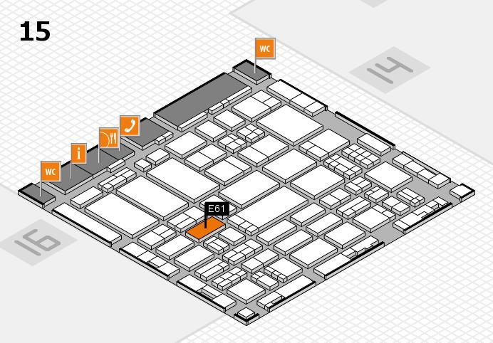 ProWein 2017 hall map (Hall 15): stand E61