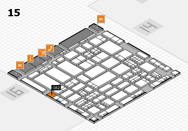 ProWein 2017 hall map (Hall 15): stand G82