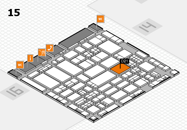 ProWein 2017 hall map (Hall 15): stand D21