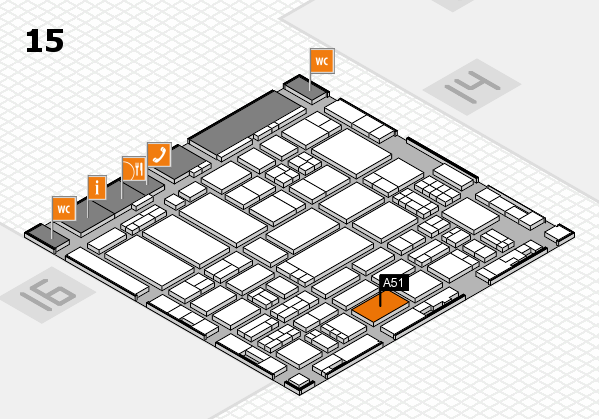 ProWein 2017 hall map (Hall 15): stand A51