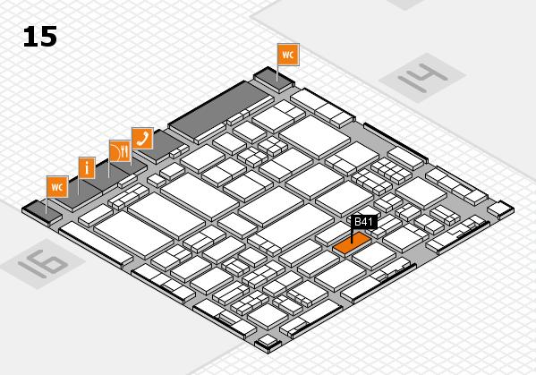 ProWein 2017 hall map (Hall 15): stand B41