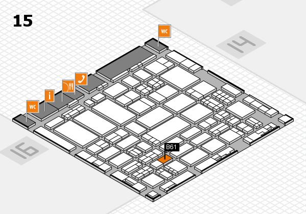 ProWein 2017 hall map (Hall 15): stand B61