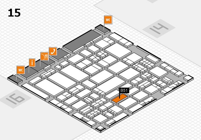 ProWein 2017 hall map (Hall 15): stand B51