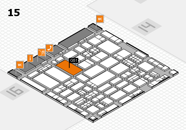 ProWein 2017 hall map (Hall 15): stand G51