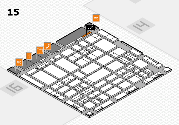 ProWein 2017 hall map (Hall 15): stand L01
