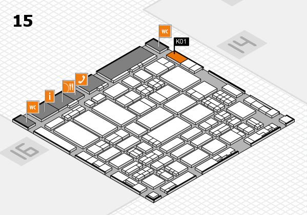 ProWein 2017 Hallenplan (Halle 15): Stand K01