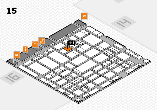 ProWein 2017 hall map (Hall 15): stand H41