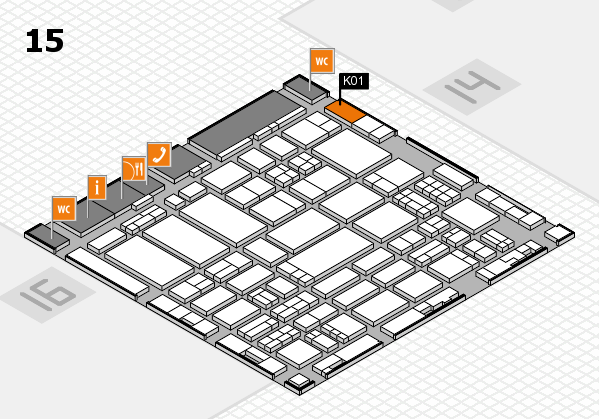 ProWein 2017 hall map (Hall 15): stand K01