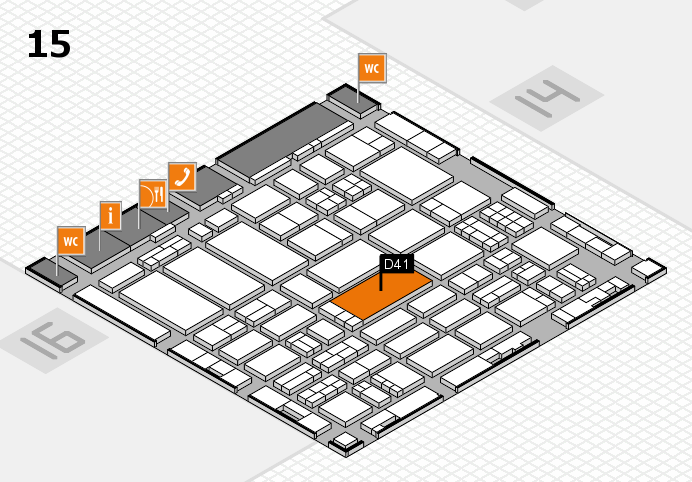 ProWein 2017 hall map (Hall 15): stand D41