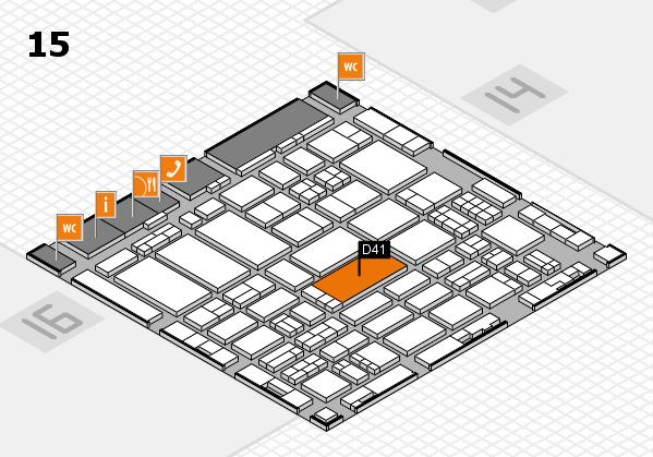 ProWein 2017 Hallenplan (Halle 15): Stand D41