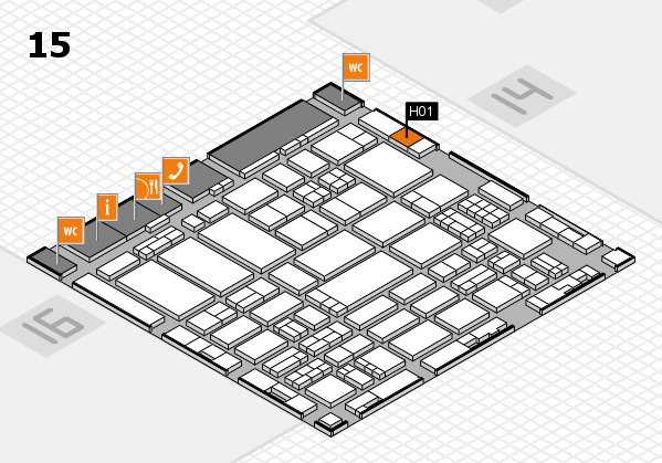 ProWein 2017 hall map (Hall 15): stand H01
