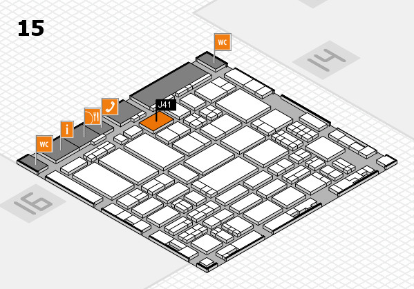 ProWein 2017 hall map (Hall 15): stand J41