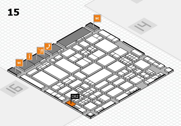 ProWein 2017 hall map (Hall 15): stand D82