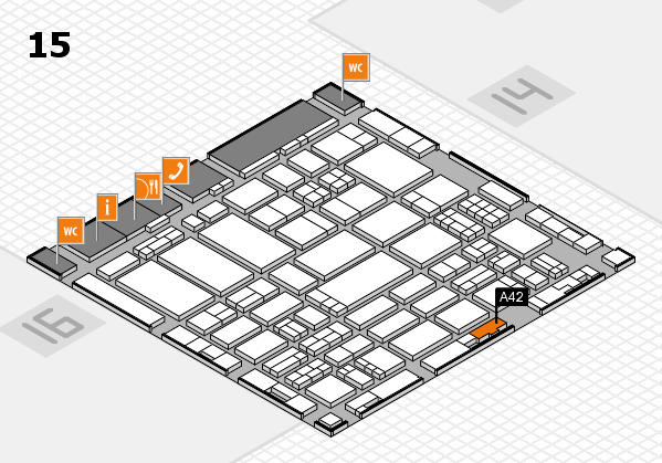 ProWein 2017 hall map (Hall 15): stand A42