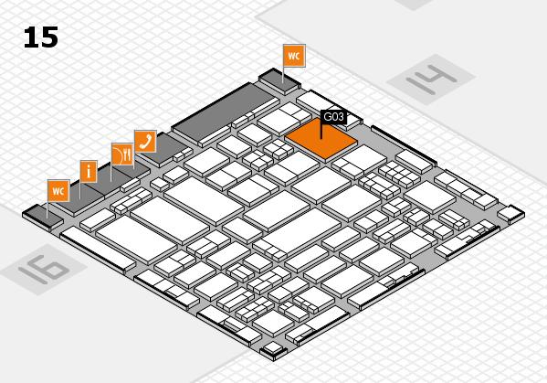 ProWein 2017 Hallenplan (Halle 15): Stand G03