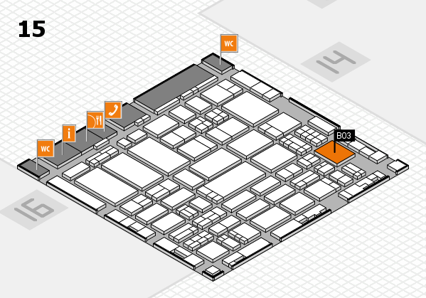 ProWein 2017 hall map (Hall 15): stand B03
