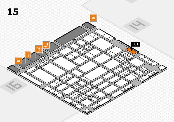 ProWein 2017 Hallenplan (Halle 15): Stand F01