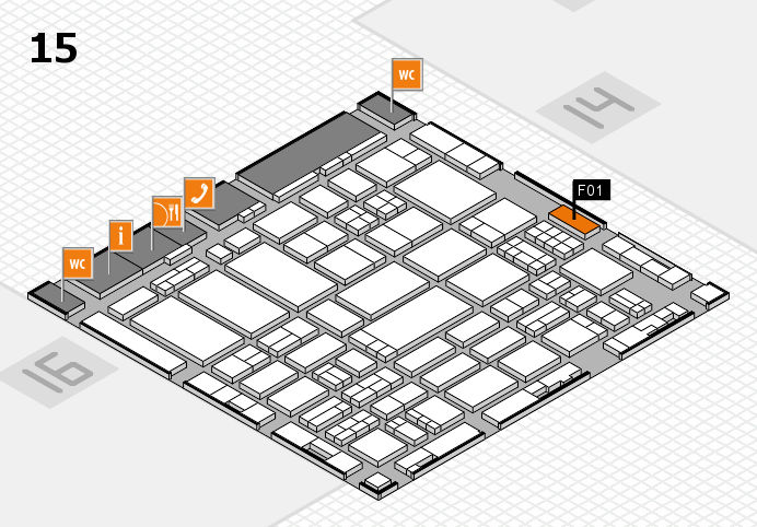 ProWein 2017 hall map (Hall 15): stand F01