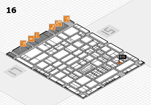ProWein 2017 hall map (Hall 16): stand B19