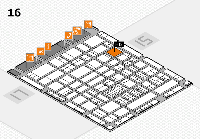 ProWein 2017 hall map (Hall 16): stand H12