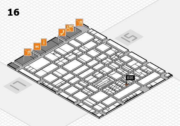 ProWein 2017 hall map (Hall 16): stand B35