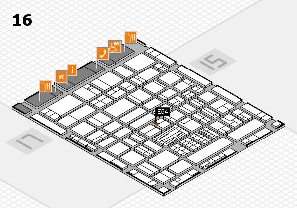 ProWein 2017 hall map (Hall 16): stand E54