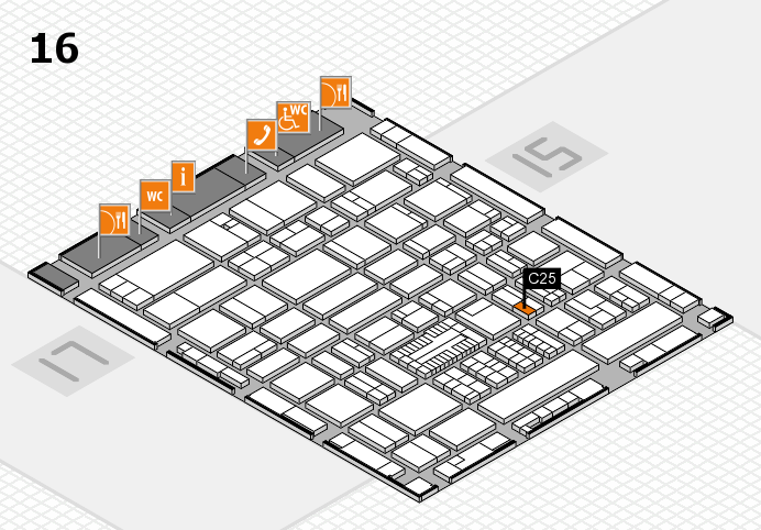 ProWein 2017 hall map (Hall 16): stand C25