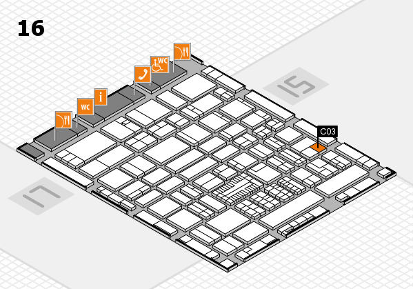 ProWein 2017 hall map (Hall 16): stand C03