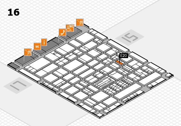 ProWein 2017 hall map (Hall 16): stand E20